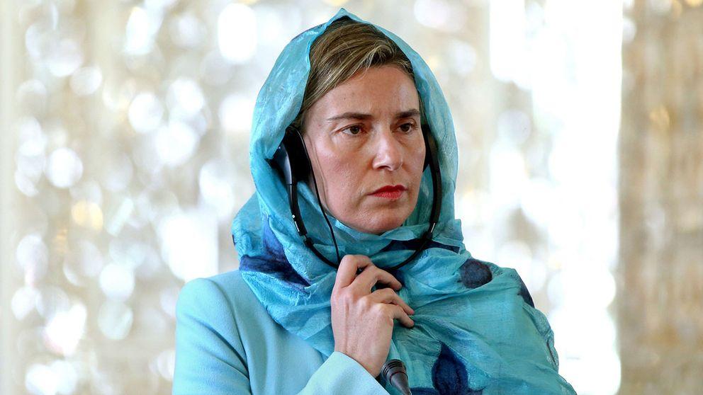 EU:s utrikeschef Federica Mogherini på besök i Iran.