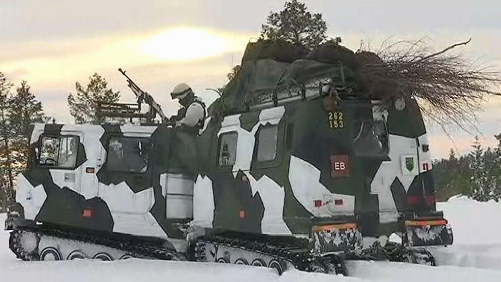 Hemvärnet i regionen är med i en stor militärövning på norsk mark.
