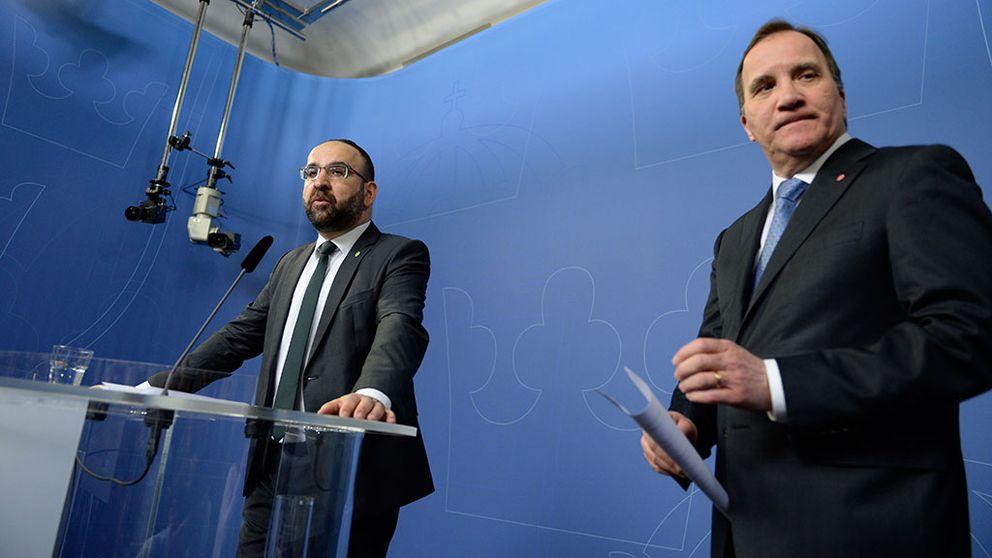 Presskonferens med Mehmet Kaplan och Stefan Löfven
