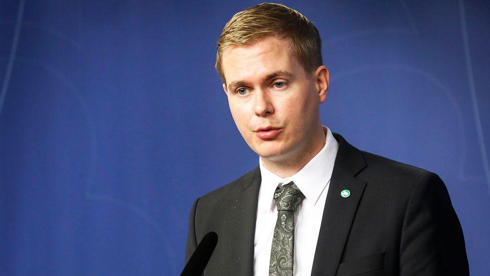 Miljöpartiets språkrör, Gustav Fridolin.