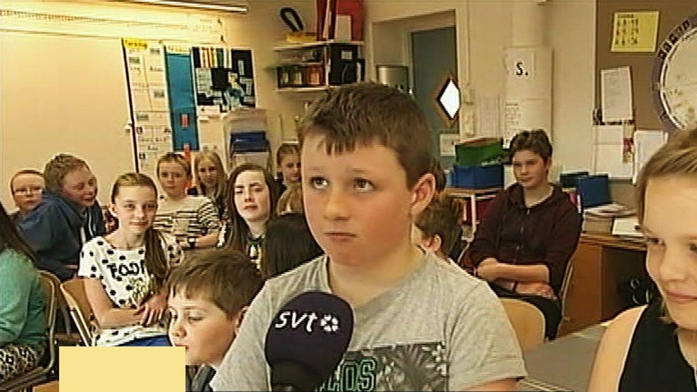 Besviken elev på Rots skola i Älvdalen.