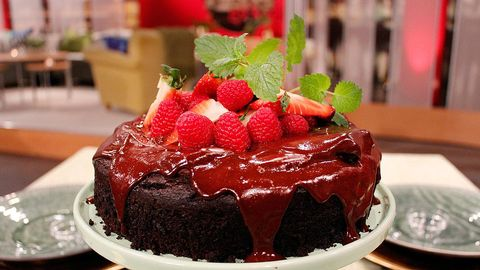 vegansk fransk chokladtårta