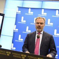 Liberalernas partiledare Jan Björklund håller pressträff.