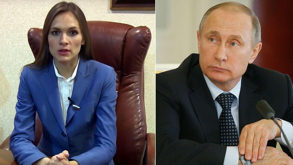 Olga har kritiserat Putin för att inte ta ansvar för korruptionen i landet.