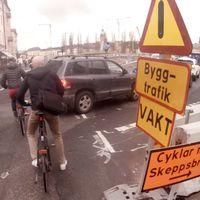 Korsningen Hornsgatan / Götgatan ned mot Slussen och en utfart mot Ringvägen nära Skanstull på Södermalm – två platser man där man som cyklist bör ta det extra försiktigt.