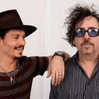 Johnny Deeo och Tim Burton.