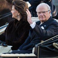 Kungen och Silvia på väg mot fredagens konsert på Nordiska muséet i Stockholm, en konsert som SVT1 sänder på valborgsmässoafton