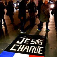 Massakern vid tidningen Charlie Hebdo var en av de värsta attackerna mot den fria pressen 2015. Här hedras offren på årsdagen den 7 januari i år.