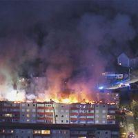 Stor brand i Huskvarna