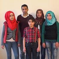 Familjen Mohammad från Palmyra.