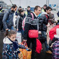 Flyktingar som anländer till Sverige.