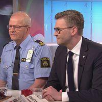 Kjell Lindgren från Stockholmspolisen och Jesper Ackinger från ESC Stockholms stad pratar om säkerheten vid ESC i Gomorron.