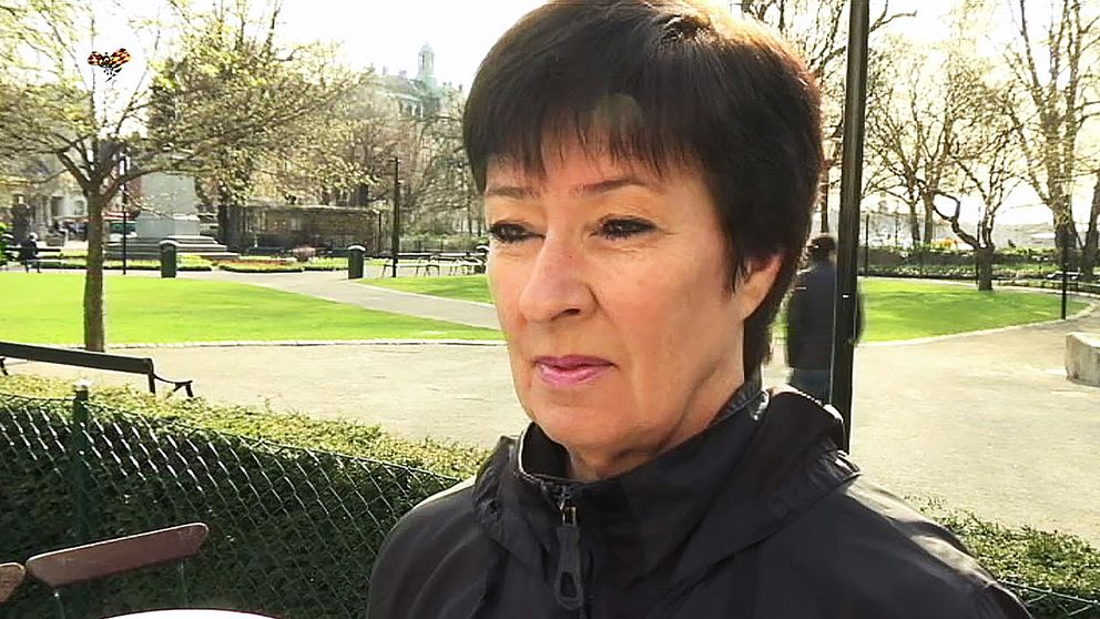 Mona Sahlin intervjuas av Expressen.