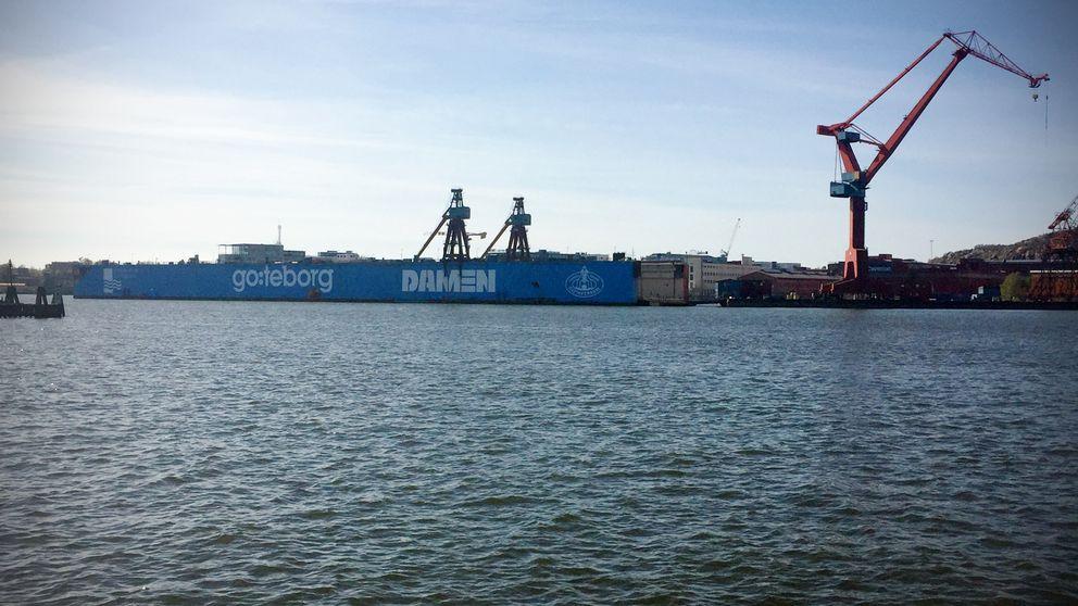 Dockan i Göteborgs hamn.