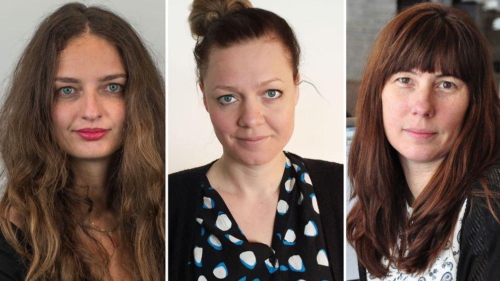 Iva Horvatovic, Sofia Nordén och Cecilia Lönnehed.