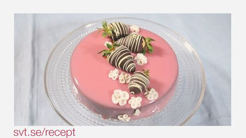 spegel glasyr tårta recept