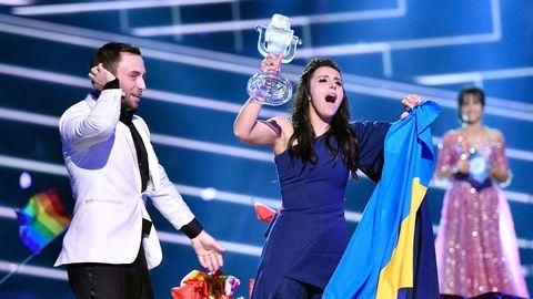 Ukrainas Jamala och Måns Zelmerlöv.
