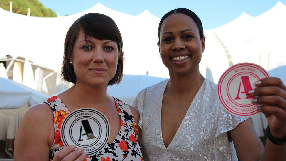 Ellen Telje och kultur- och demokratiminister Alice Bah Kuhnke på plats på filmfestivalen i Cannes.