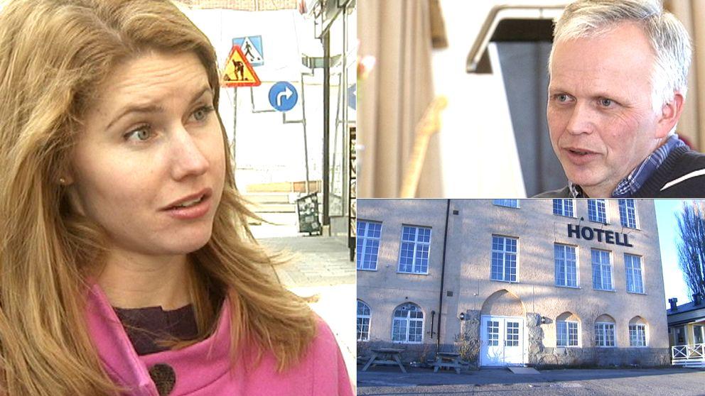Sundbybergs kommunalråd Josefin Malmqvist (M), Berno Vidén som är äldste i Maranataförsamlingen och Pilgrimshem.