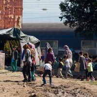 Flyktingar i Idomeni.
