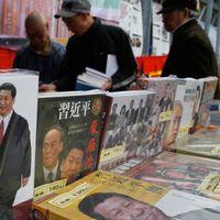 Ett bokhandelsstånd i Hong Kong.