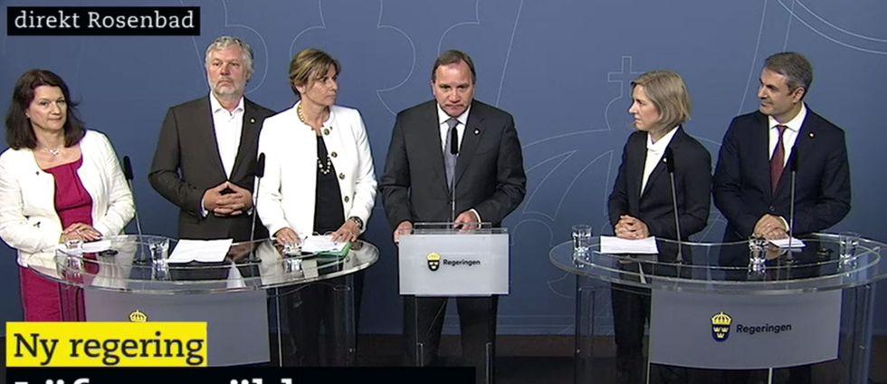 stefan Löfvens nya regering.