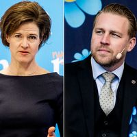 Kristdemokraternas Ebba Busch Thor, Moderaternas Anna Kinberg Batra och Sverigedemokraternas Mattias Karlsson.