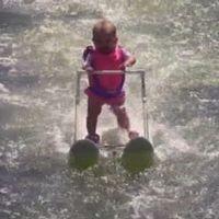 Zyla St. Onge är världens yngsta vattenskidåkare vid knappt sju månaders ålder.