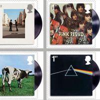 Albumomslagen som görs till frimärken