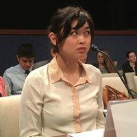 Angela Gui under henns vittnesmäl och utfrågning i den amerikanska kongressen.