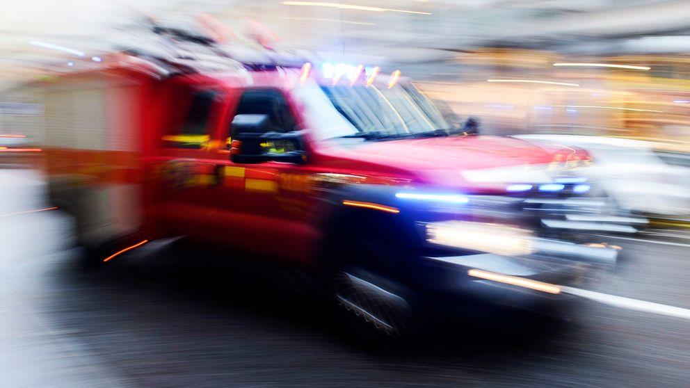 Misstänkt brand i källare