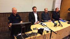 Presskonferens med polisen om oroligheterna i Tjärna Ängar i Borlänge.