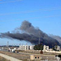 Bild från en tidigare flygattack mot Raqqa i december i fjol, och har publicerats av IS-kontrollerade medier. Arkivbild.