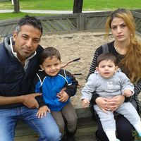 Familjen Ghalia Rahmano och Khalil Hannan i Alby utanför Ånge.
