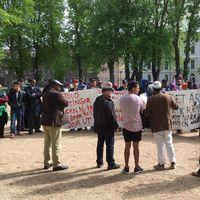 demonstration asylsökande migrationsverket invandring