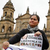 En demonstration i huvudstaden Bogotá för de försvunna journalisterna