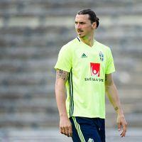 Zlatan Ibrahimovic under en träning.