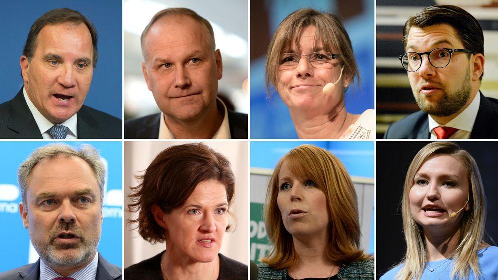 alla partiledare i ett collage