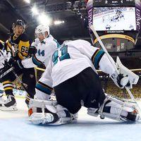 Pittsburgh drog längsta strået mot San José i första finalen av Stanley Cup.