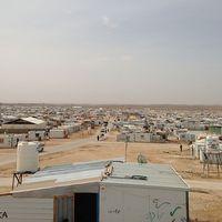 Mariam Nimr födde tvillingarna Malak och Ahmad på förlossningskliniken i Zaatari.