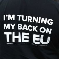 Storbritanniens premiärminister David Cameron (Tories) vill vara kvar i EU.
