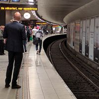 Olycka i tunnelbanan i Stockholm.
