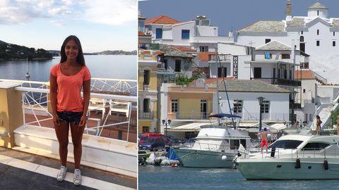 Madelen Andersson är fast på den grekiska ön Skiathos