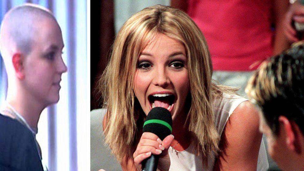 Britney Spears anno 2008 (tv) och 2000.