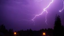 Blixtoväder över Tollarp, Skåne. 24 juni