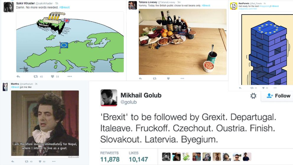 """""""Grexit, Departugal, Italeave, Fruckoff, Czeckout, Outsria, Finish, Slovakout, Latervia, Byegium""""."""