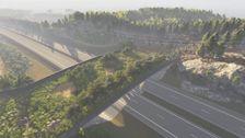 Det som gör ekodukten i Kungsbacka unik, är att man bygger den på en redan existerande väg.
