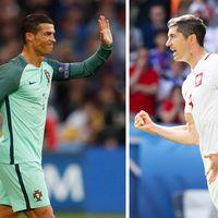 Cristiano Ronaldo och Robert Lewandowski.