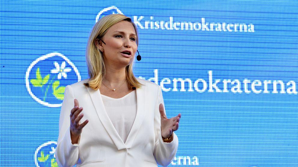 K:s partiledare Ebba Busch Thor