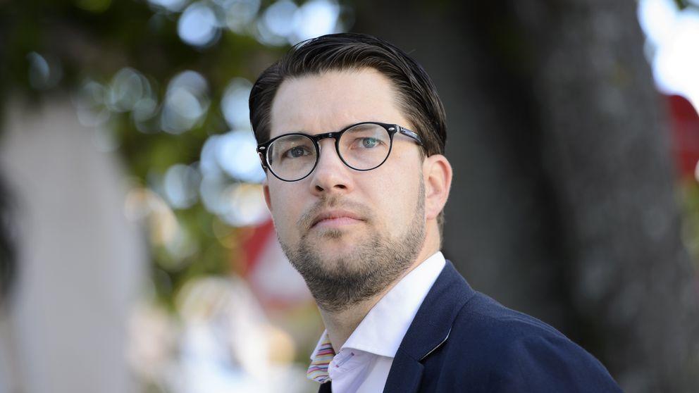 Sverigedemokraternas partiledare Jimmie Åkesson i Almedalen 2015.
